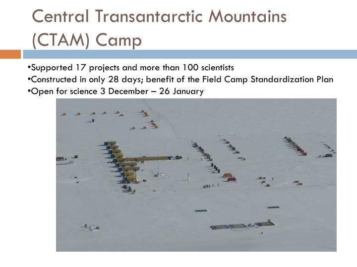 Central Transantarctic Mountains (CTAM) Camp