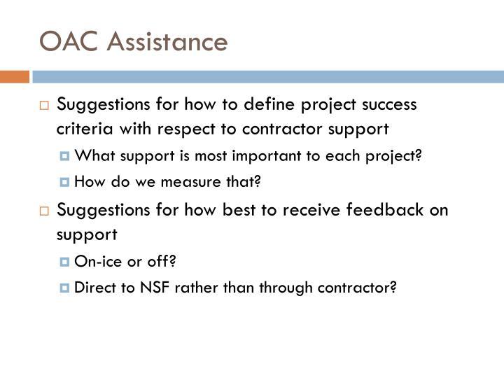 OAC Assistance