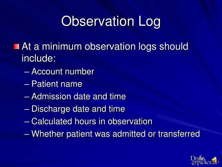Observation Log