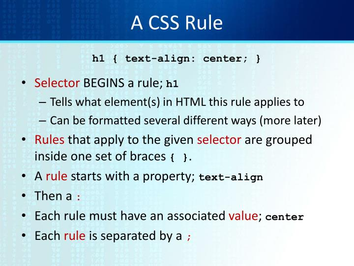 A CSS Rule