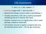 css comments