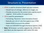 structure vs presentation