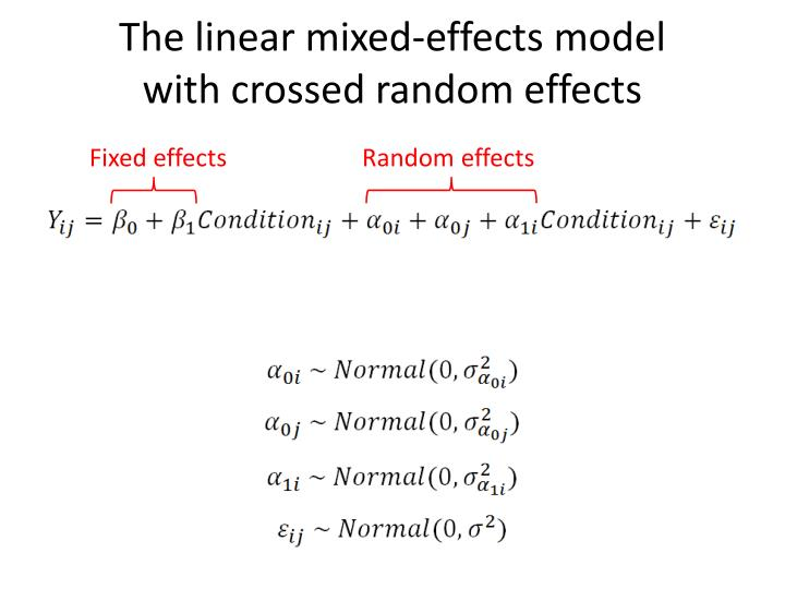 The linear mixed-effects model