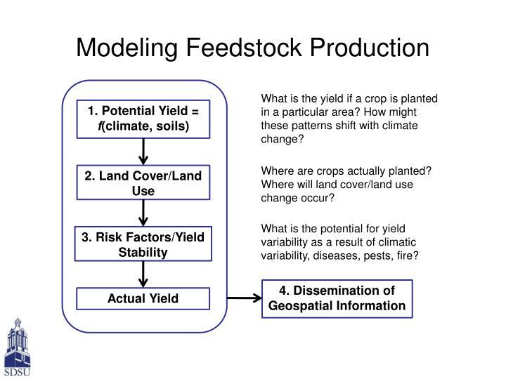 Modeling Feedstock Production