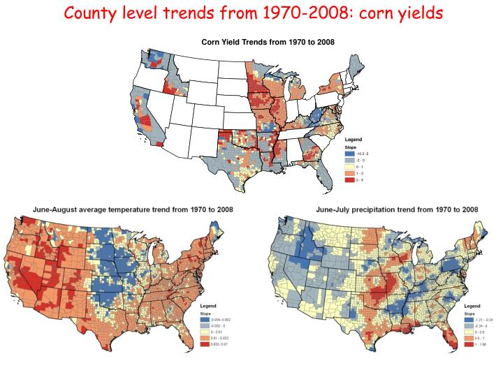 County level trends from