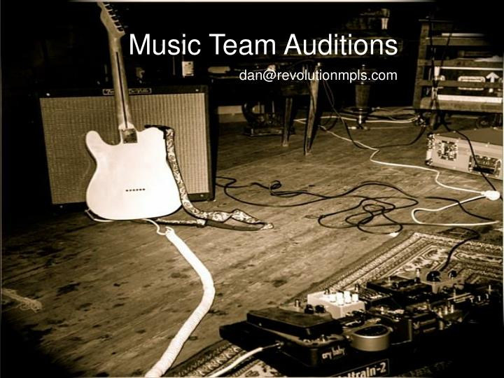 Music Team Auditions
