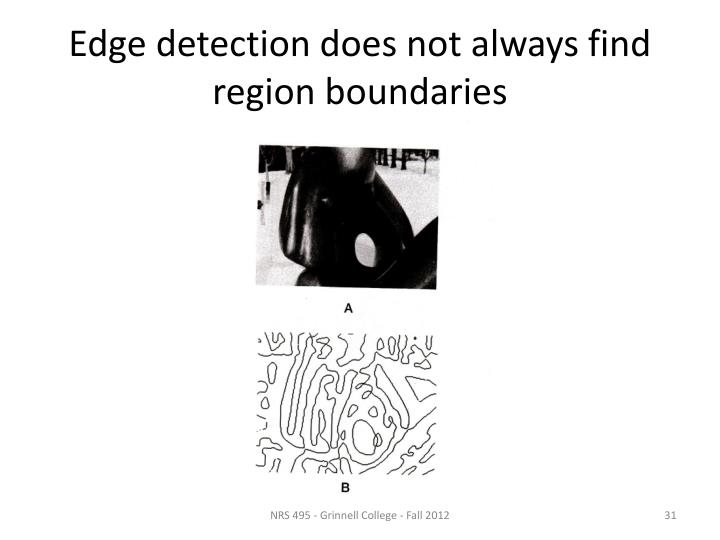 Edge detection does not always find region boundaries