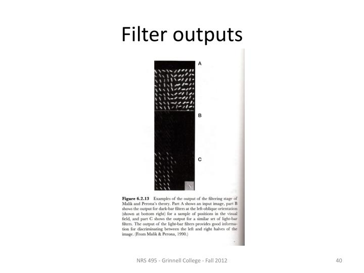 Filter outputs
