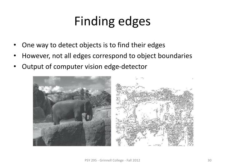 Finding edges