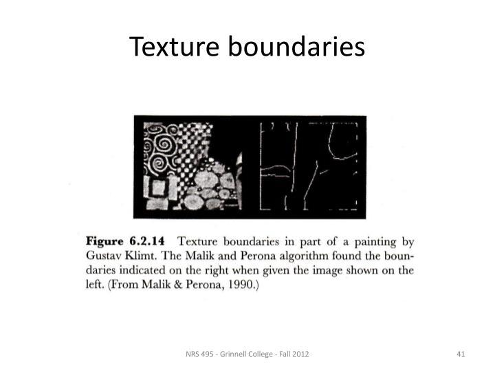 Texture boundaries