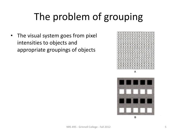 The problem of grouping