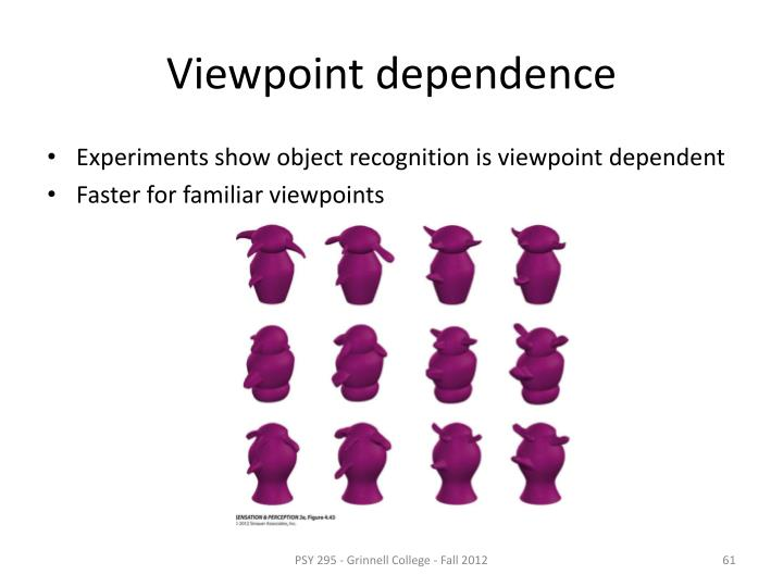 Viewpoint dependence