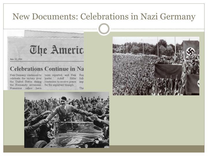 New Documents: Celebrations in Nazi Germany