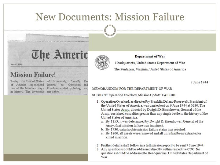 New Documents: Mission Failure