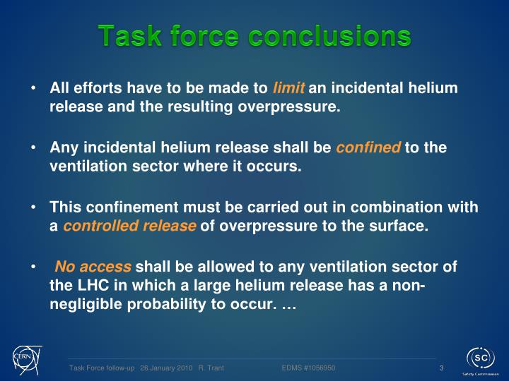 Task force conclusions