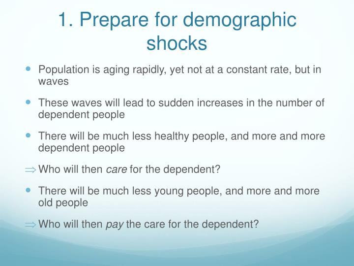 1. Prepare for demographic shocks