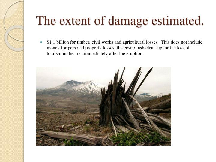 The extent of damage estimated.