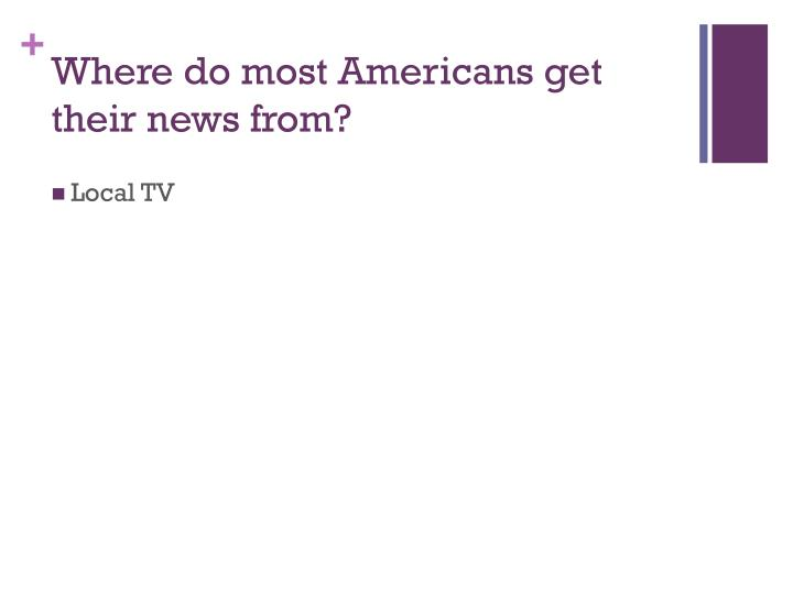 Where do most Americans get their news from?