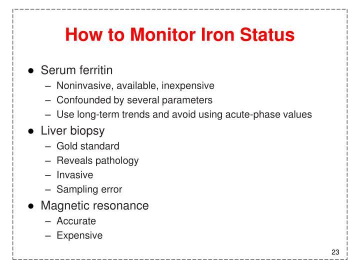 How to Monitor Iron Status