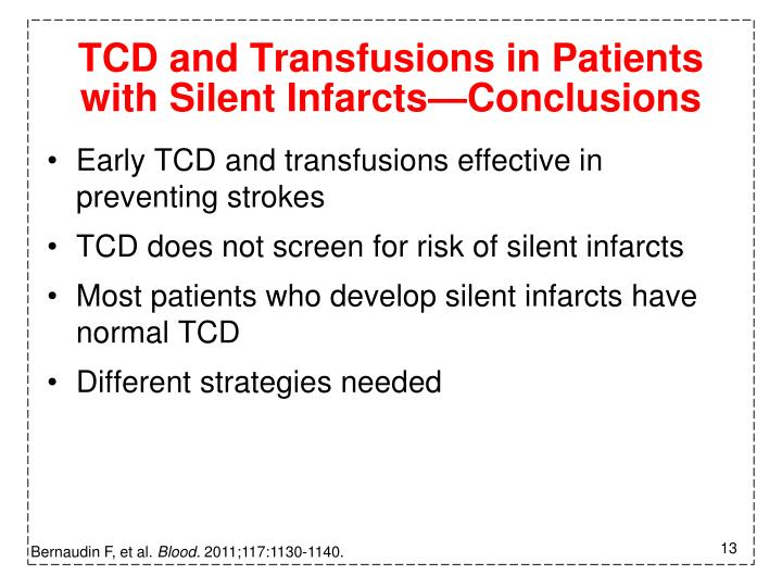 TCD and Transfusions in Patients with Silent Infarcts—Conclusions