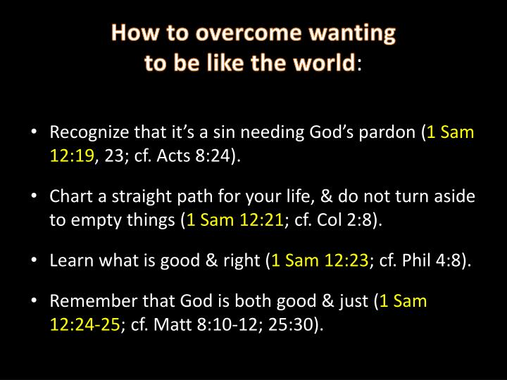 How to overcome wanting
