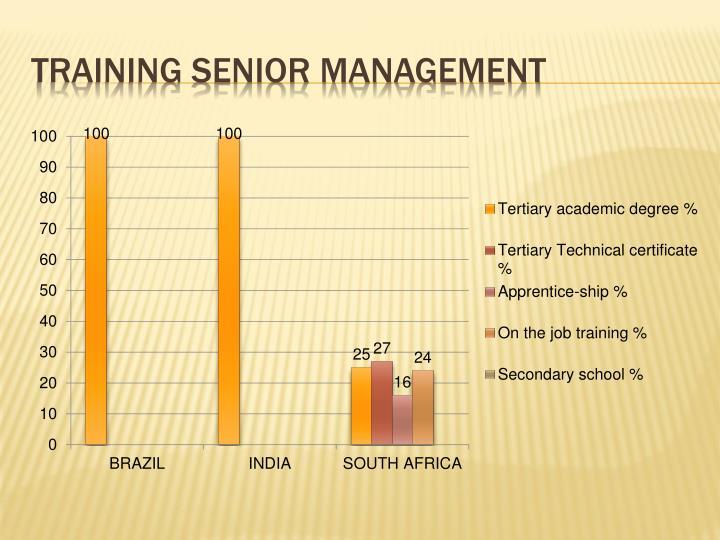 Training senior management