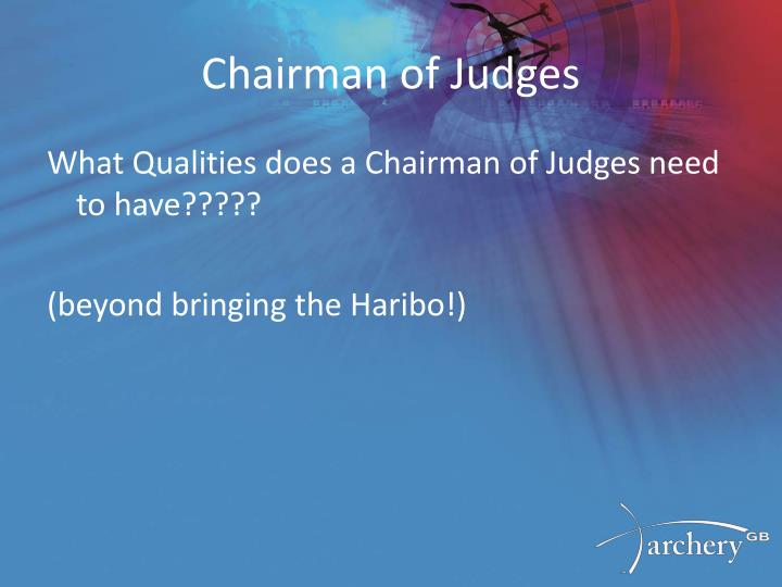 Chairman of judges1