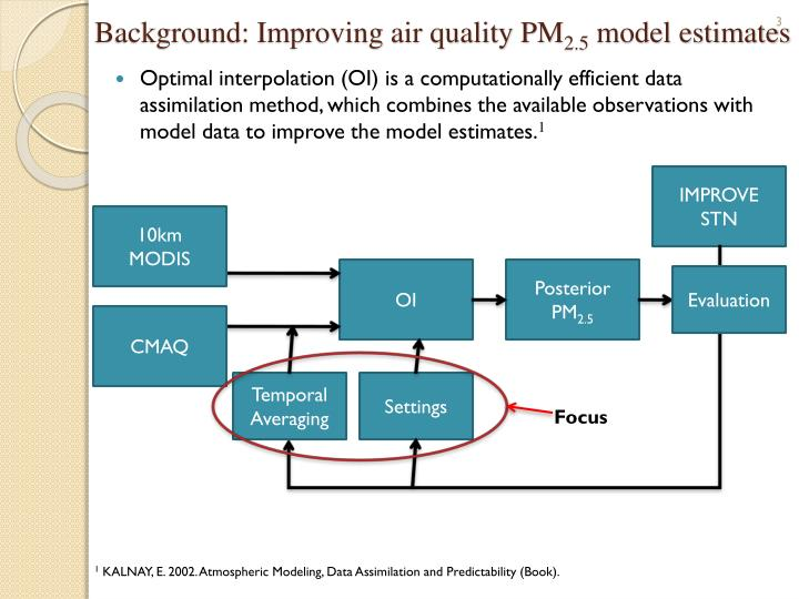 Background improving air quality pm 2 5 model estimates