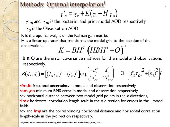 Methods: Optimal interpolation