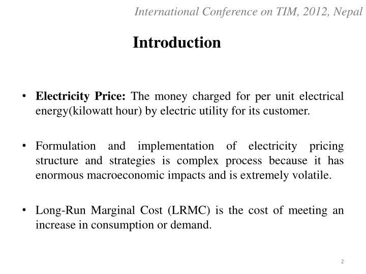 International Conference on TIM, 2012, Nepal