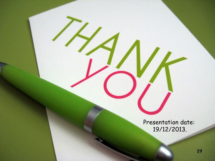 Presentation date: