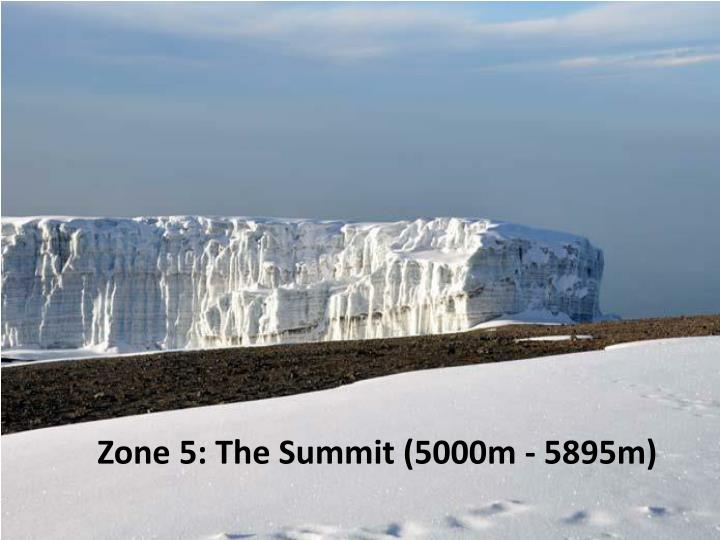 Zone 5: The Summit (5000m - 5895m)