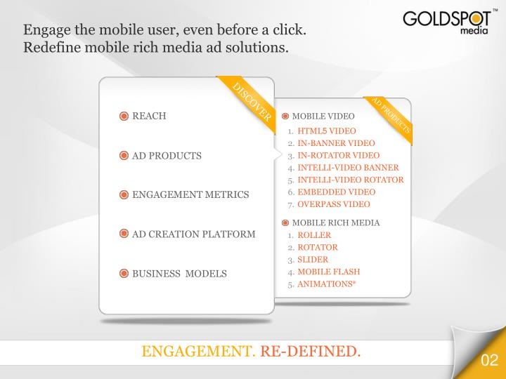 Engage the mobile user, even before a click.