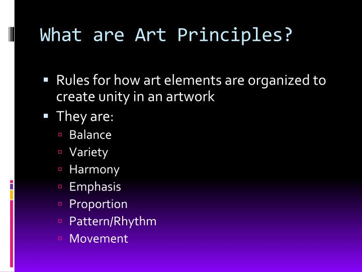 What are art principles