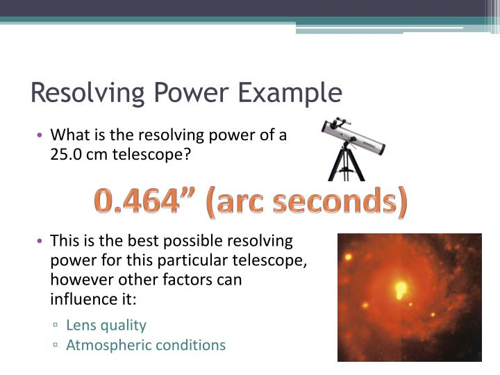 Resolving Power Example