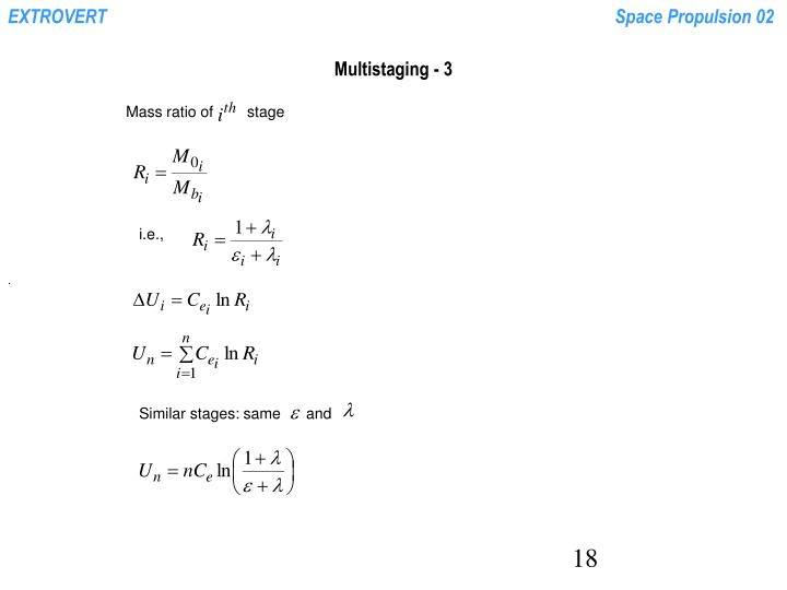 Multistaging