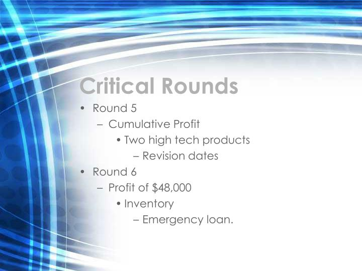 Critical Rounds