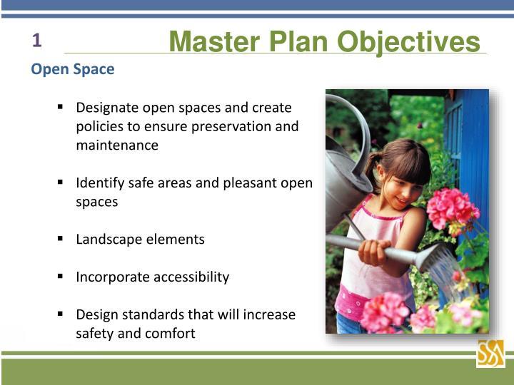 Master Plan Objectives
