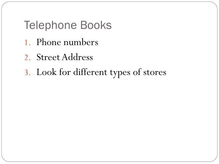 Telephone Books