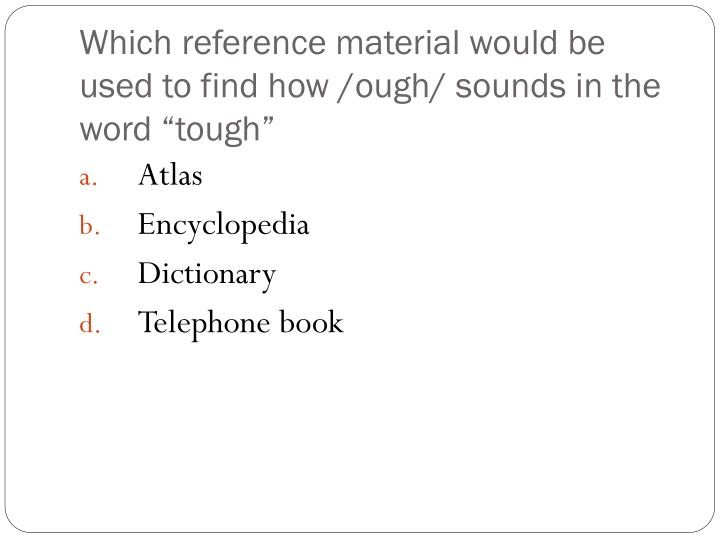 Which reference material would be used to find how /