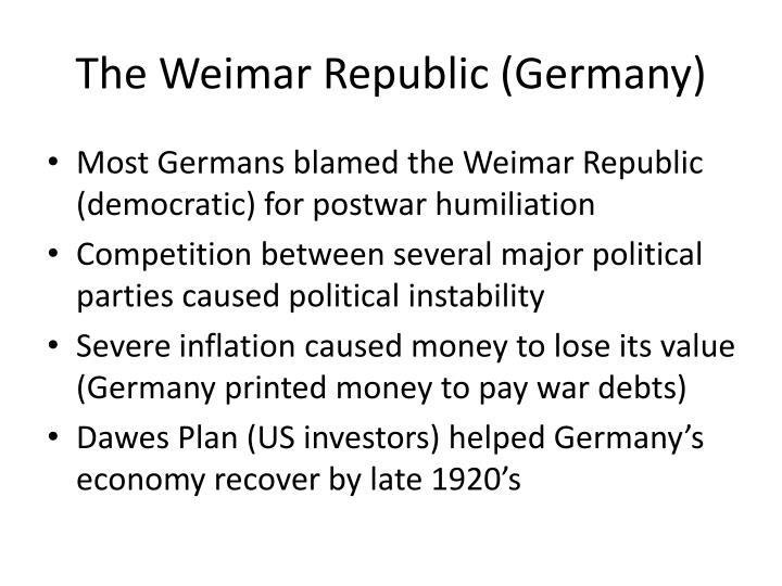 The Weimar Republic (Germany)