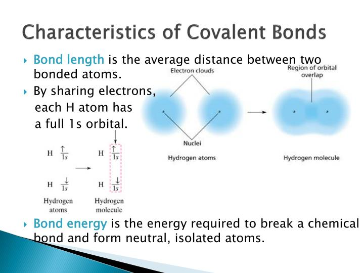 Characteristics of Covalent Bonds