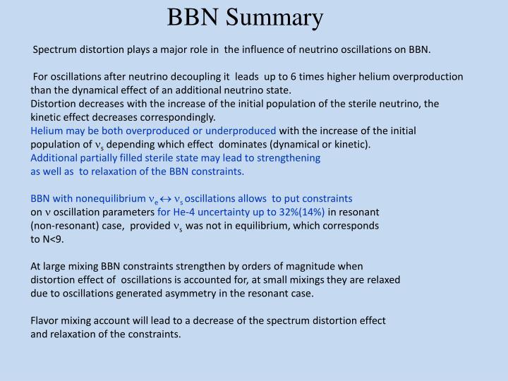 BBN Summary
