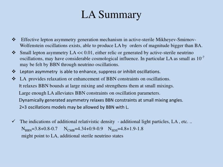 LA Summary