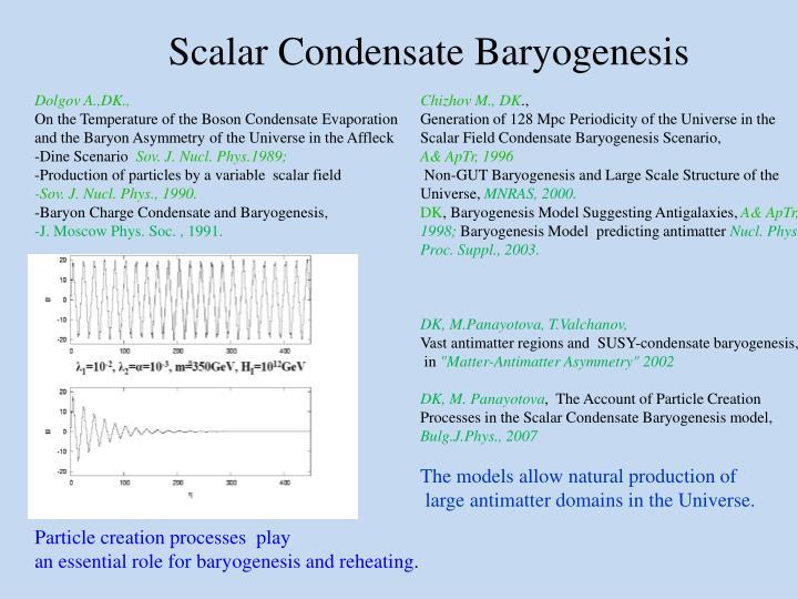 Scalar Condensate