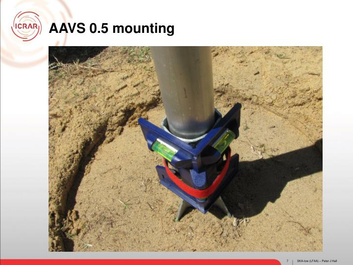 AAVS 0.5 mounting