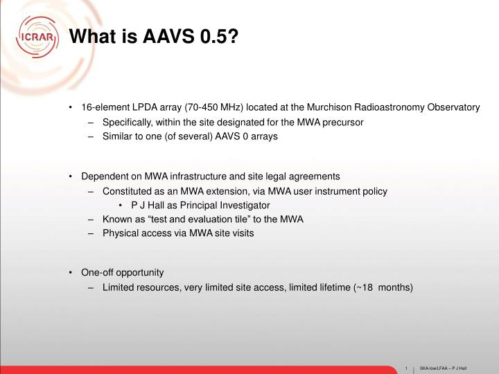 What is AAVS 0.5?