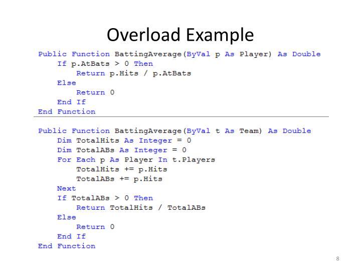 Overload Example