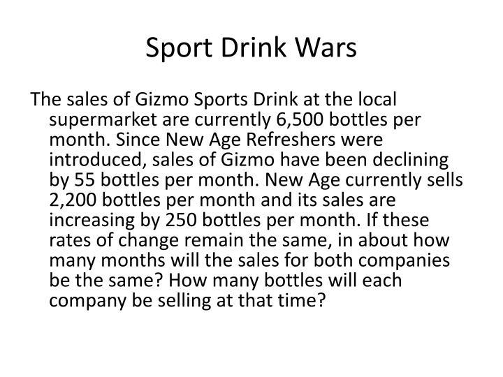 Sport Drink Wars