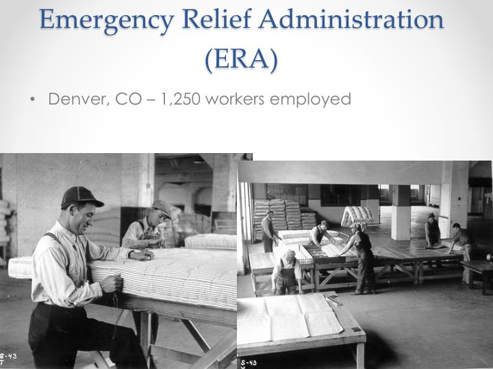 Emergency Relief Administration (ERA)
